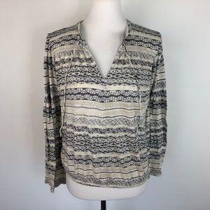 Lucky Brand Size Small Shirt Top Bell Sleeve